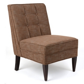 Maurice Brown Linen Slipper Chair