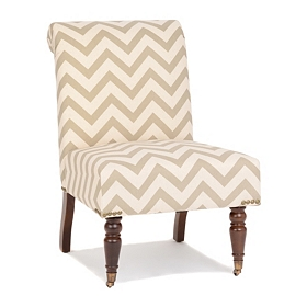 Madison Chevron Slipper Chair