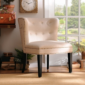London Linen Accent Chair
