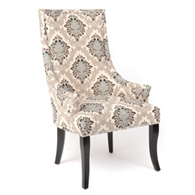 Blue Damask Accent Chair