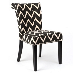 Anneau Chevron Stripe Accent Chair