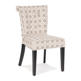 Anneau Gray and White Accent Chair