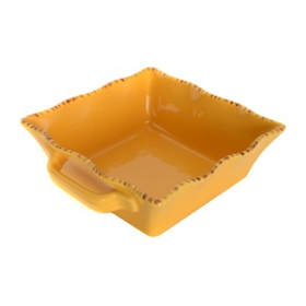 Yellow Stoneware Baking Dish