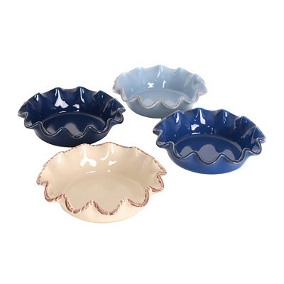 Mini Stoneware Pie Plates, Set of 4