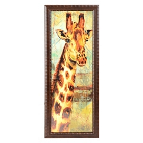 Safari Giraffe Framed Art Print