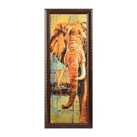 Safari Elephant Framed Art Print