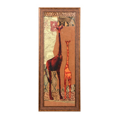 Patchwork Giraffe Framed Art Print