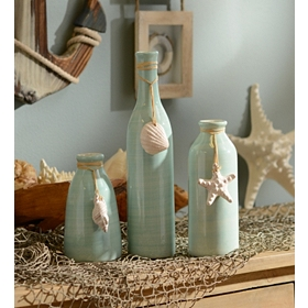 Coastal Charm Vases, Set of 3
