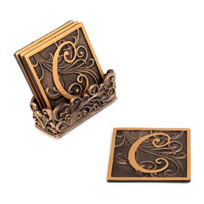 Edwardian Monogram C Coaster Set