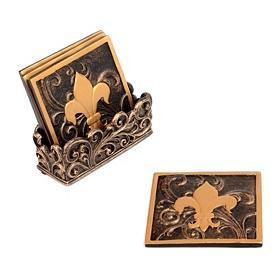 Edwardian Fleur-de-Lis Coaster Set