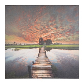 Sunset Dock Giclee Canvas Art Print