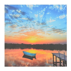 Sunset Lake Giclee Canvas Art Print