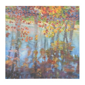 Autumn Reflection Giclee Canvas Art Print