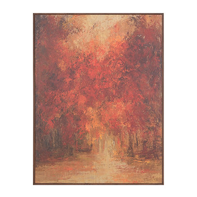 Autumn Forest Birchwood Art Print