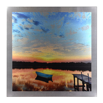 Lake at Sunset Mounted Aluminum Art Print