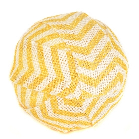 Yellow Chevron Burlap Orb