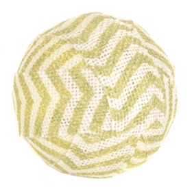 Green Chevron Burlap Orb