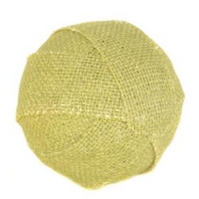 Green Burlap Orb