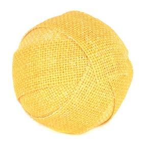 Yellow Burlap Orb