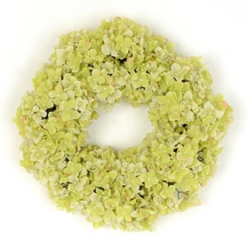 Green Hydrangea Wreath, 22 in.