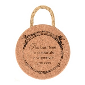 Time to Celebrate Cork Trivet