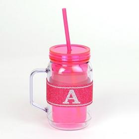 Pink Monogram A Party Mug