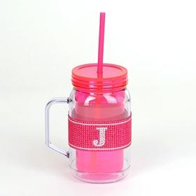 Pink Monogram J Party Mug