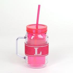 Pink Monogram L Party Mug
