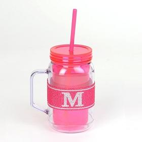 Pink Monogram M Party Mug