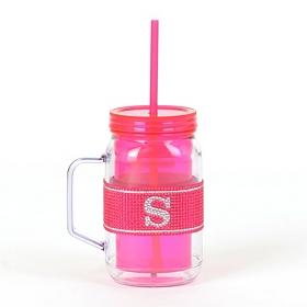 Pink Monogram S Party Mug