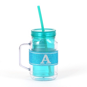 Blue Monogram A Party Mug