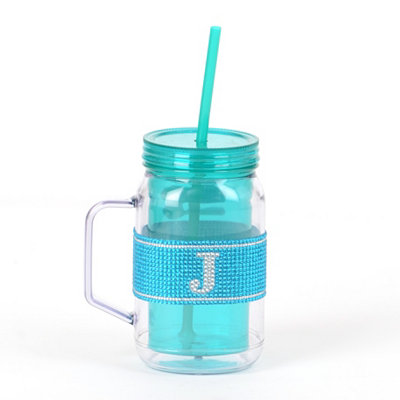 Blue Monogram J Party Mug