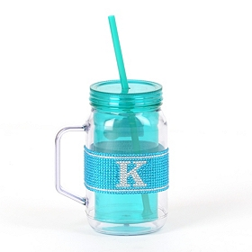 Blue Monogram K Party Mug