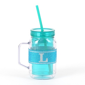 Blue Monogram L Party Mug