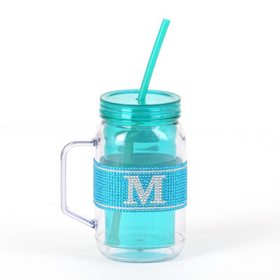 Blue Monogram M Party Mug