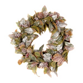 Laurel Leaf & Berry Wreath, 24 in.