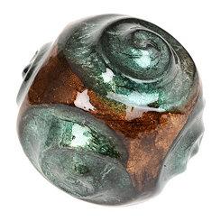 Ceramic Swirls Green Foil Finish Orb