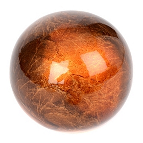 Smooth Orange Ceramic Foil Finish Orb
