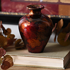 Red Color Infusion Mini Vase