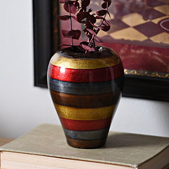 Blue Stripe Color Infusion Mini Vase