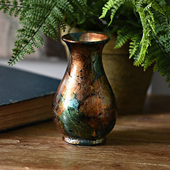 Blue Color Infusion Mini Vase