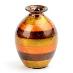 Orange Stripe Color Infusion Mini Vase