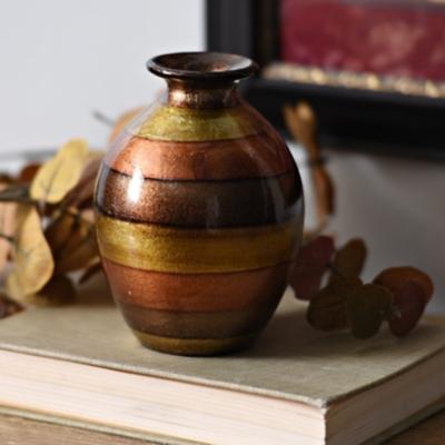 Orange Stripe Color Infusion Mini Vase