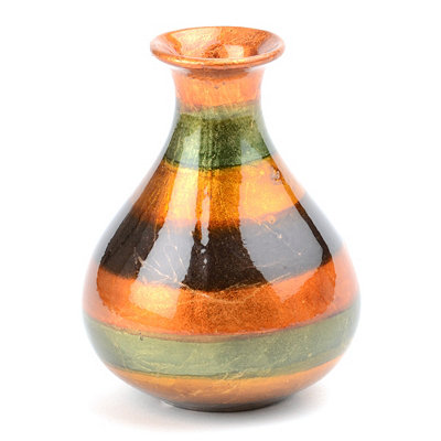 Slate Stripe Color Infusion Mini Vase