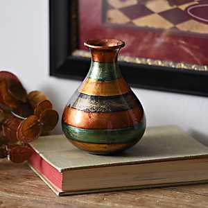 Slate Stripe Color Infusion Mini Vase