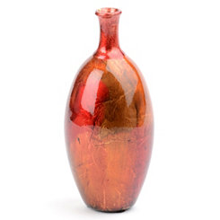 Red Color Infusion Foil Vase