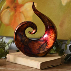 Red Infusion Swirl Statue