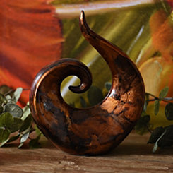 Copper Infusion Swirl Statue