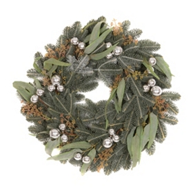 Pine & Eucalyptus Ornament Wreath