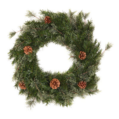 Brushed Mountain Pine Wreath